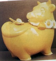 Metlox Yellow Cow Cookie Jar - Product Image