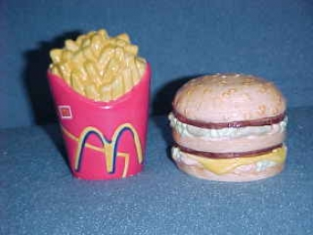 Big Mac and Fries Salt & Pepper Shakers from McDonald's. Made by Treasure Craft - Product Image