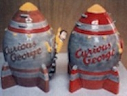 Curious George on a Rocket Ship Cookie Jar  - Product Image