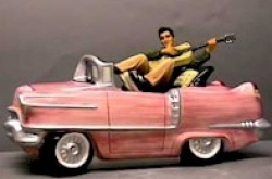 Elvis in a Pink Cadillac Cookie Jar - Product Image