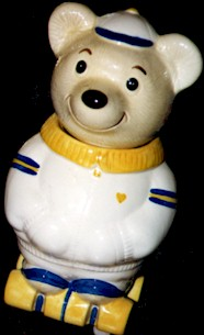 Metlox Roller Skating Bear Cookie Jar - Product Image