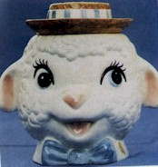 Metlox Lamb Head Cookie Jar - Product Image